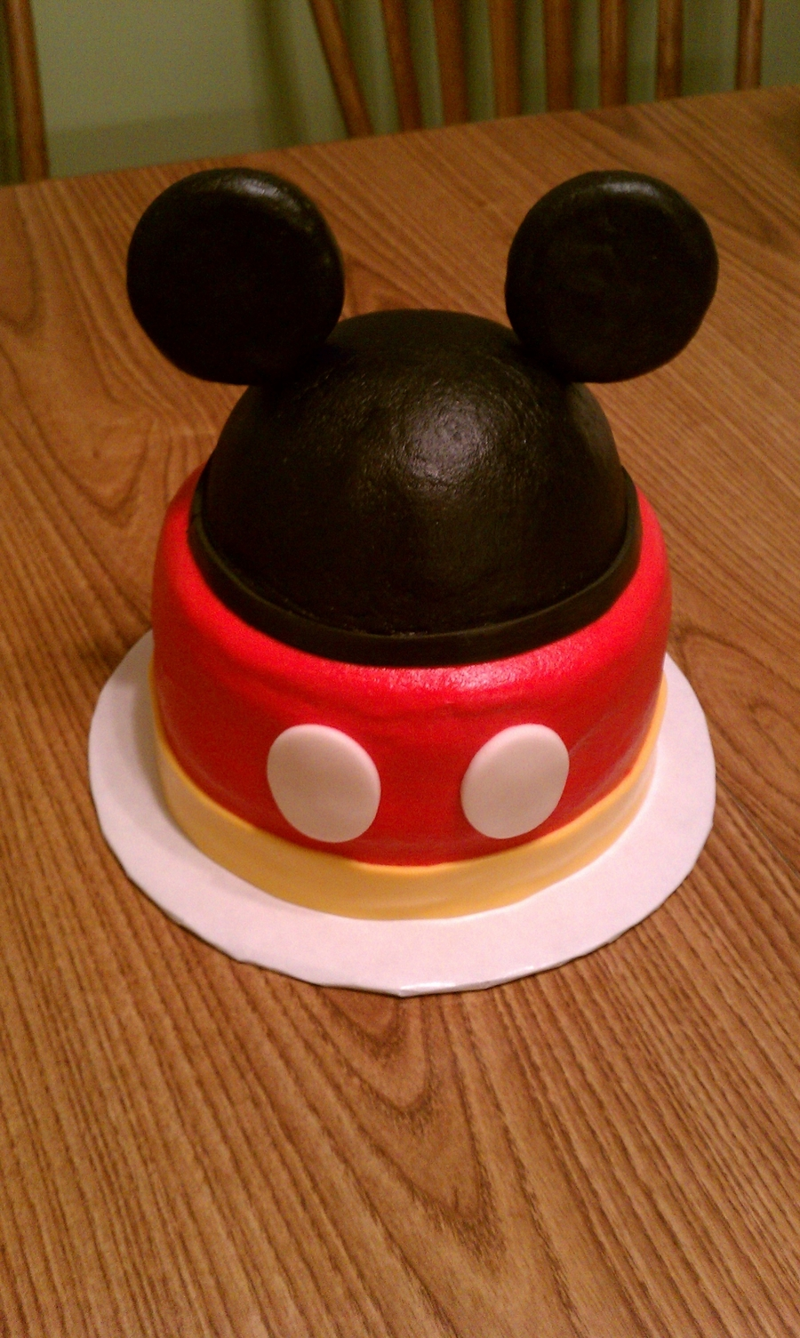 Mickey Mouse Smash Cake Cakecentral Com