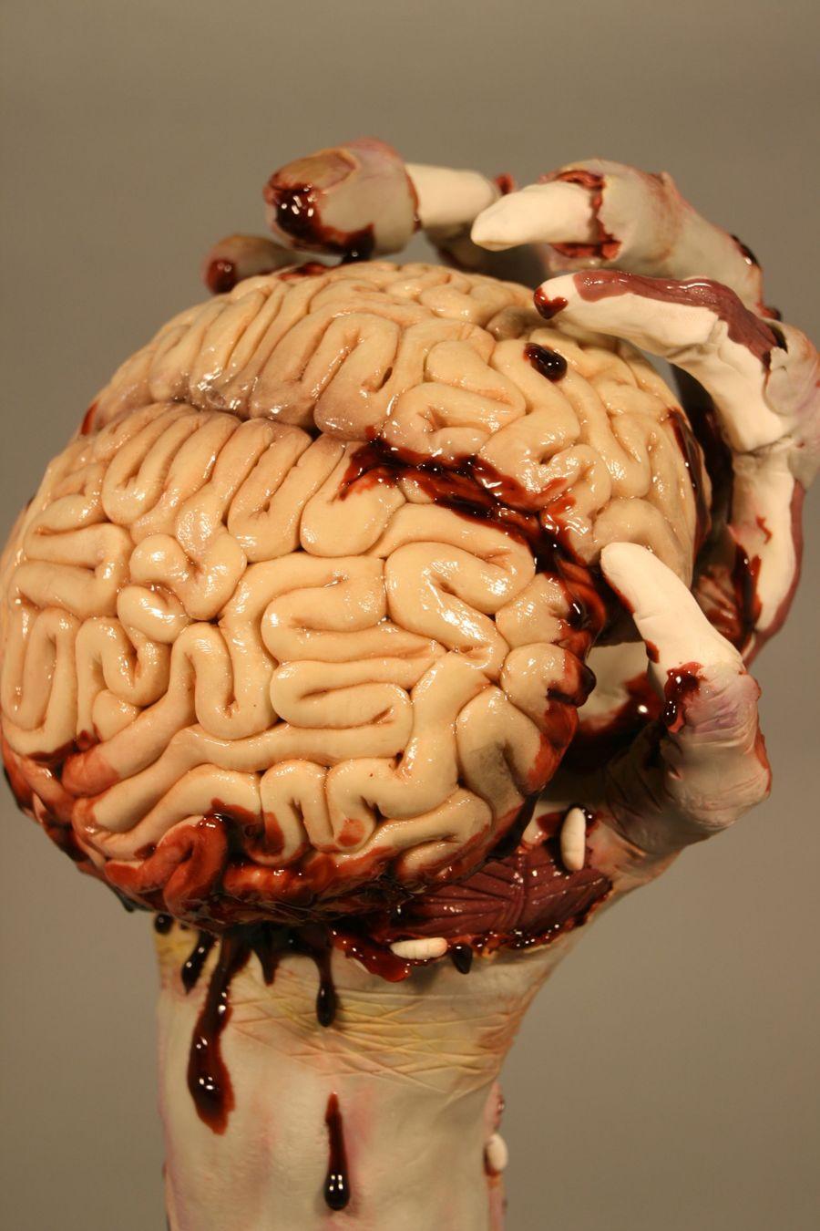 Zombie Hand Amp Brains Cakecentral Com