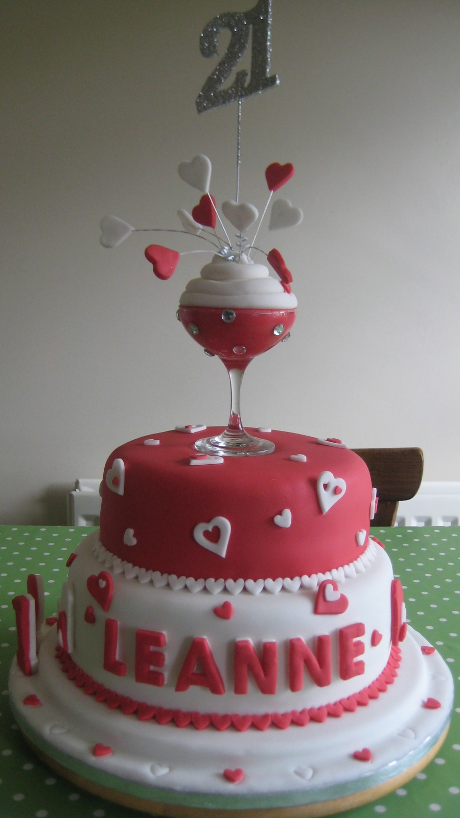 Champagne 21st Birthday Cake Cakecentral Com