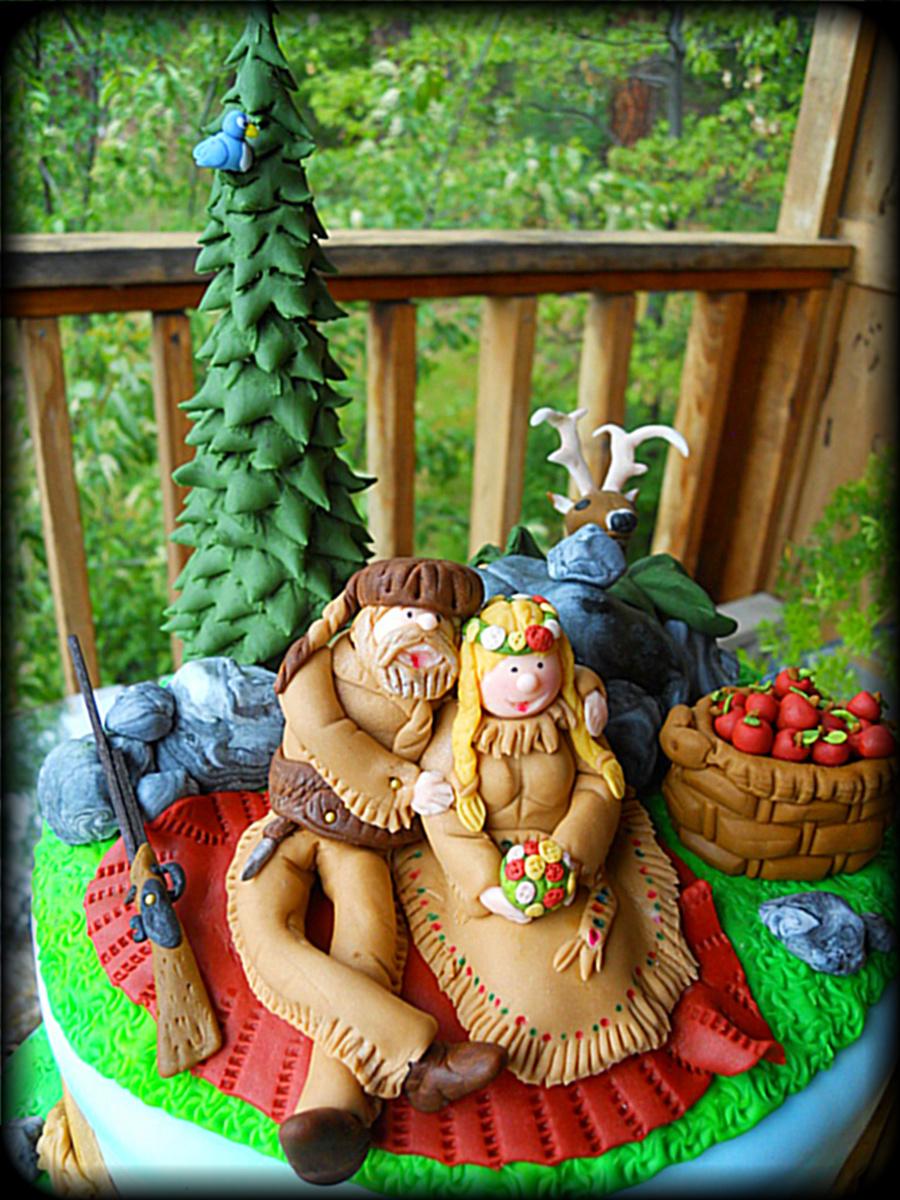 Mountain Man Theme Wedding Cake Cakecentral Com