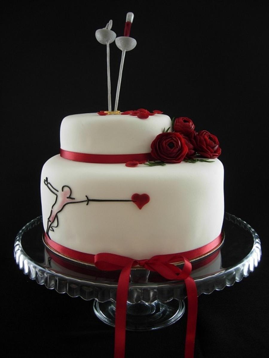 Fencing Wedding Cake Cakecentral Com