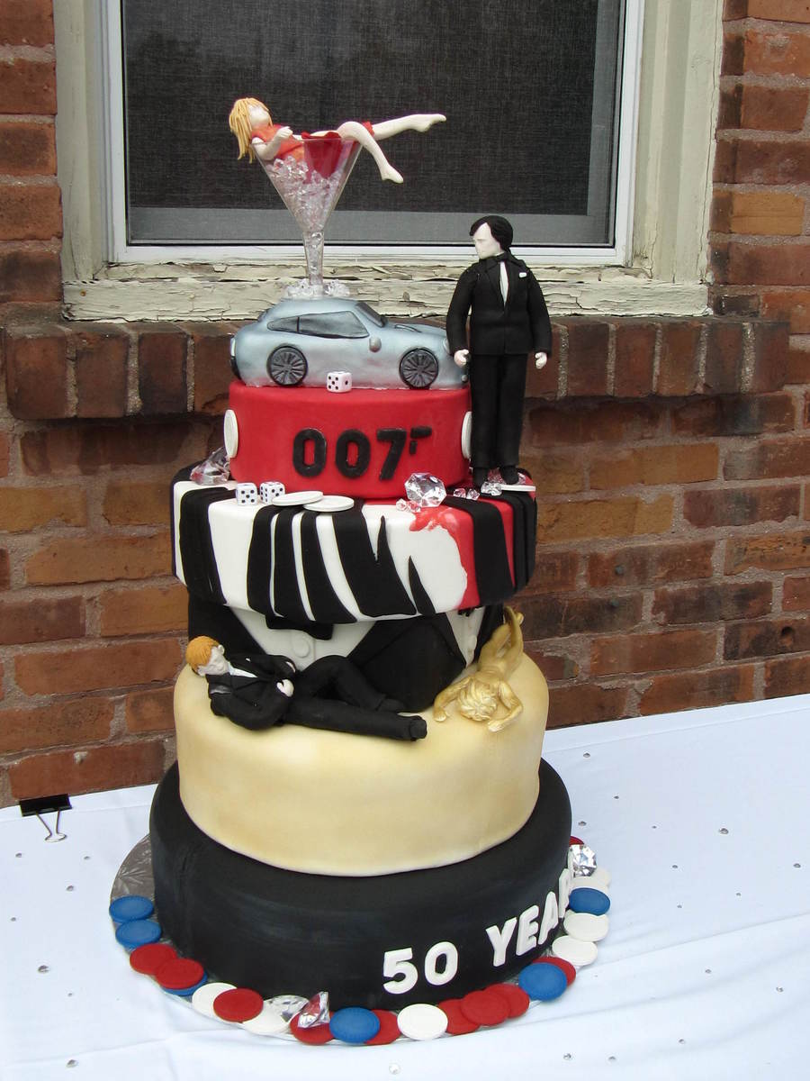 James Bond Cake Fondant Rc Car Fondant Figures