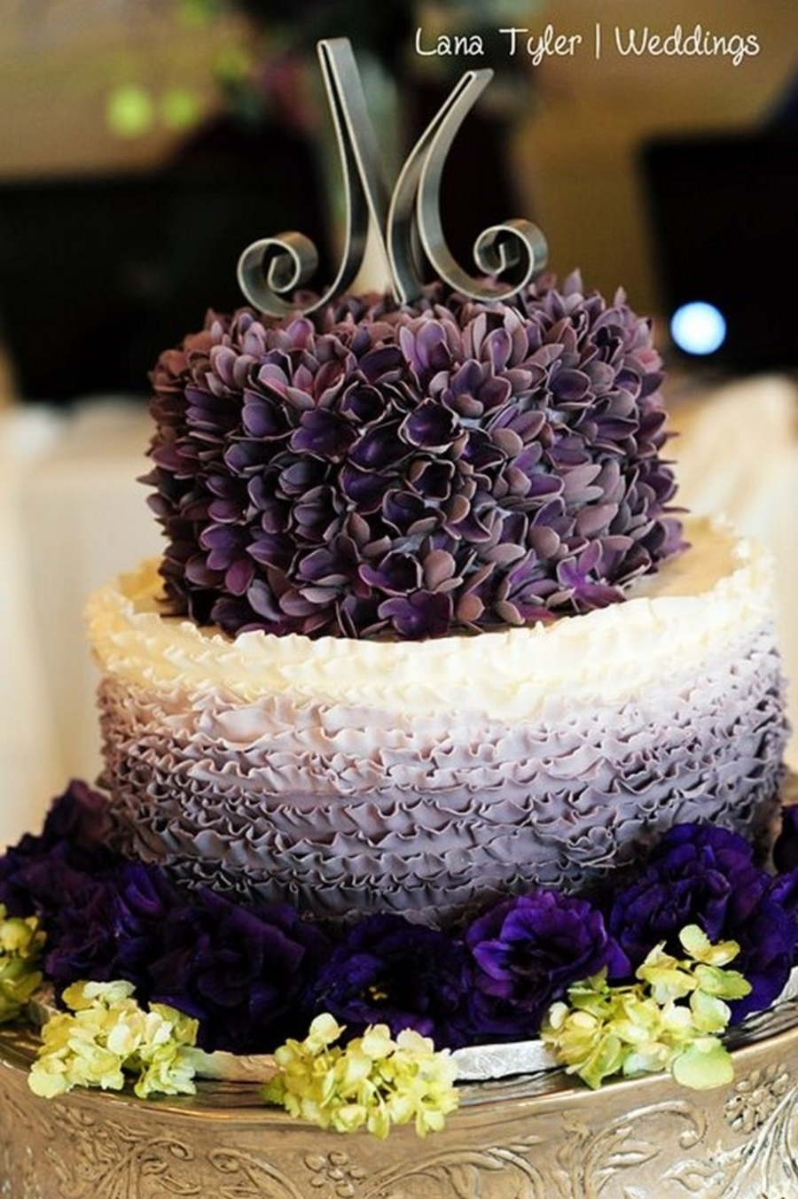 Ombre Wedding Cake   CakeCentral com Ombre Wedding Cake on Cake Central