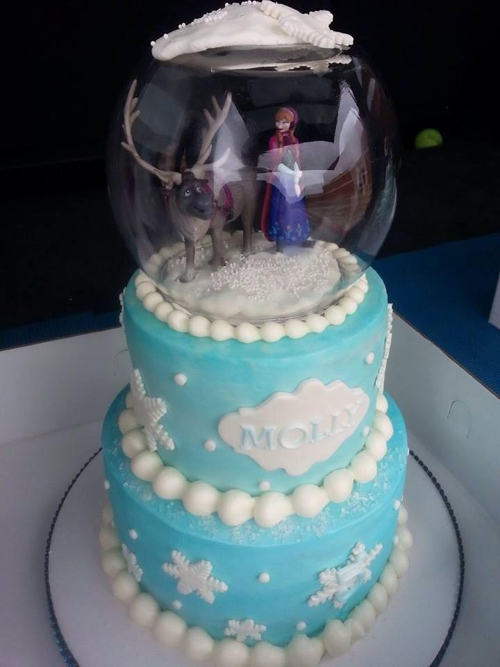 Frozen Snowglobe Cake Cakecentral Com