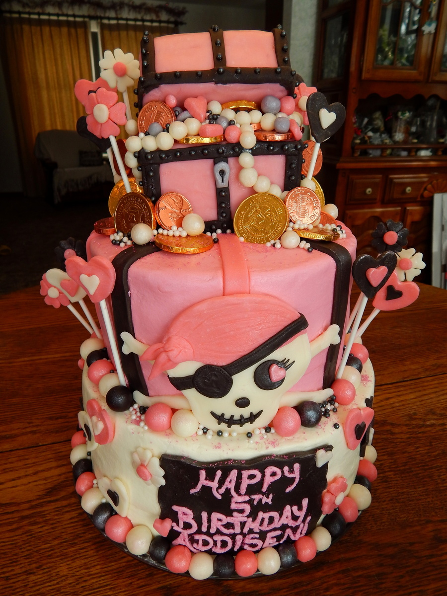 Pink And Black Pirate Cake Cakecentral Com