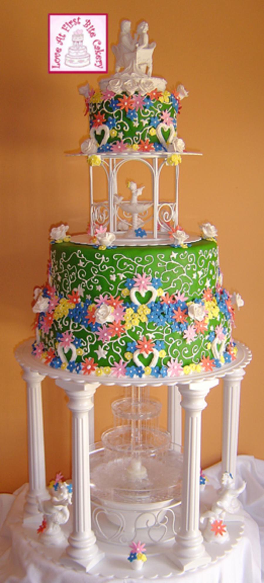 Garden Gazebo Wedding Cake Cakecentral Com