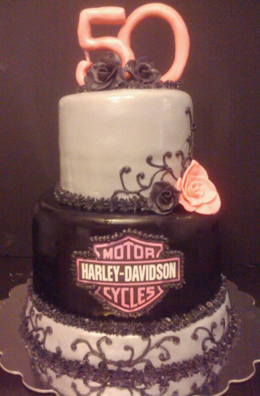 Harley Davidson Womens 50th Birthday Cake Cakecentral Com
