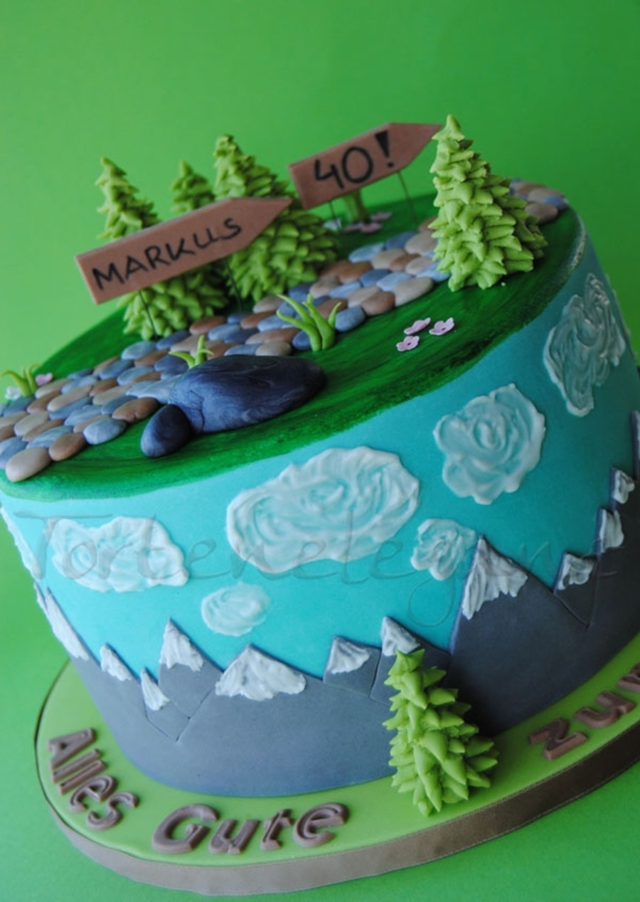 Landscape Cake For A Hiker Cakecentral Com