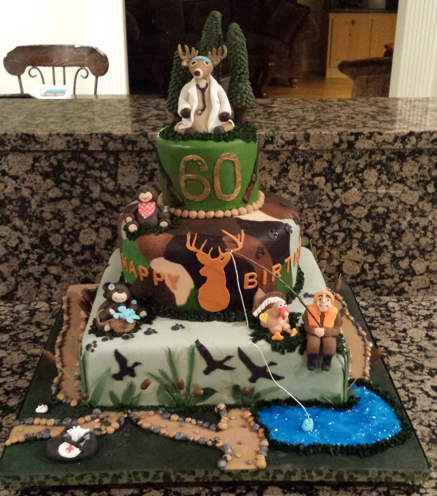 Anesthesiologist Who Loves The Outdoors Birthday Cake