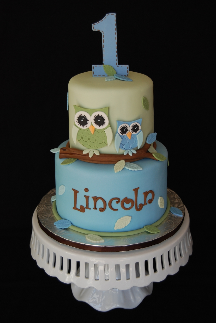 Owl First Birthday Cake Cakecentral Com
