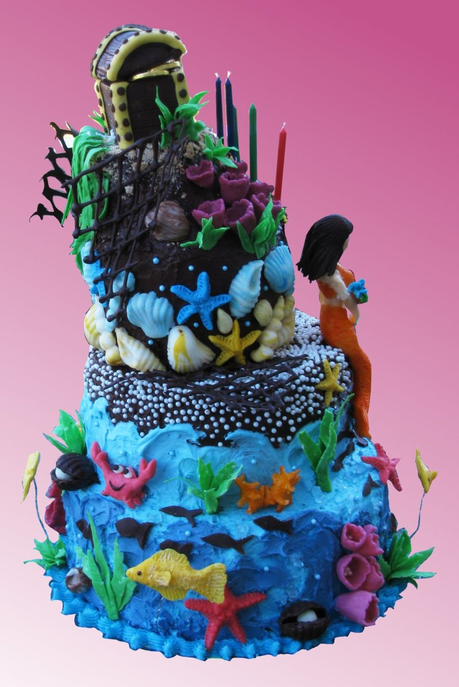 Under The Sea Mermaid Cake Cakecentral Com