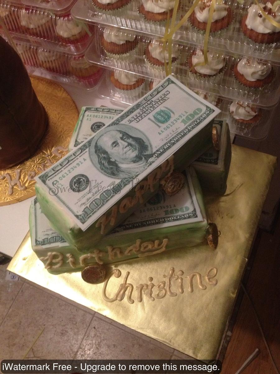 Money Birthday Cake Chocolate Cake Covered In Fondant