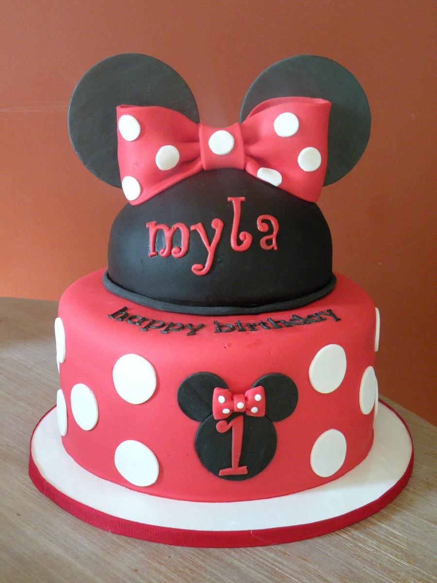 Minnie 1st Birthday Cakecentral Com