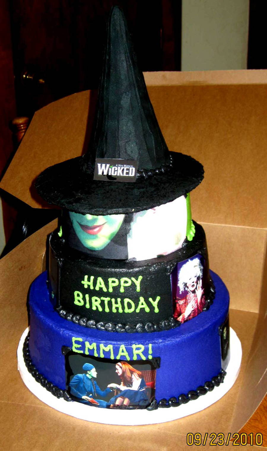 Quot Wicked Quot Broadway Musical Theme Birthday Cake