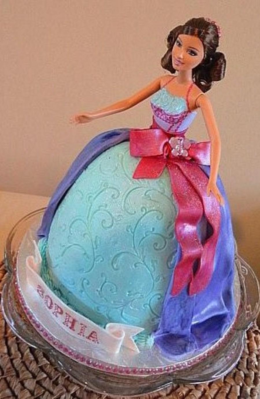 Ballerina Barbie Princess Cake Cakecentral Com