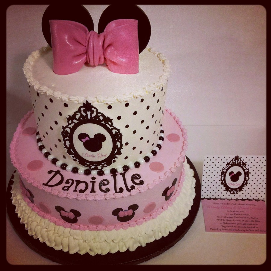 Minnie Mouse Baby Shower Cake Cakecentral Com