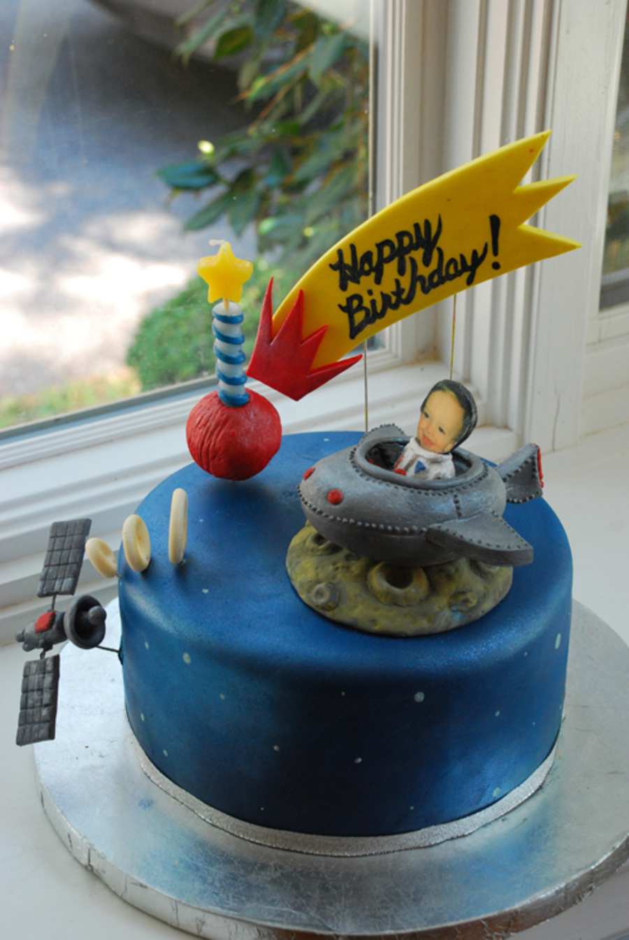 Space Themed Birthday Cake Cakecentral Com