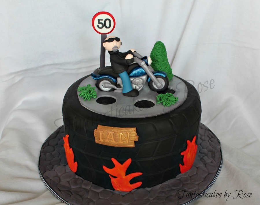 Motorbike Cake For 50th Birthday Cakecentral Com