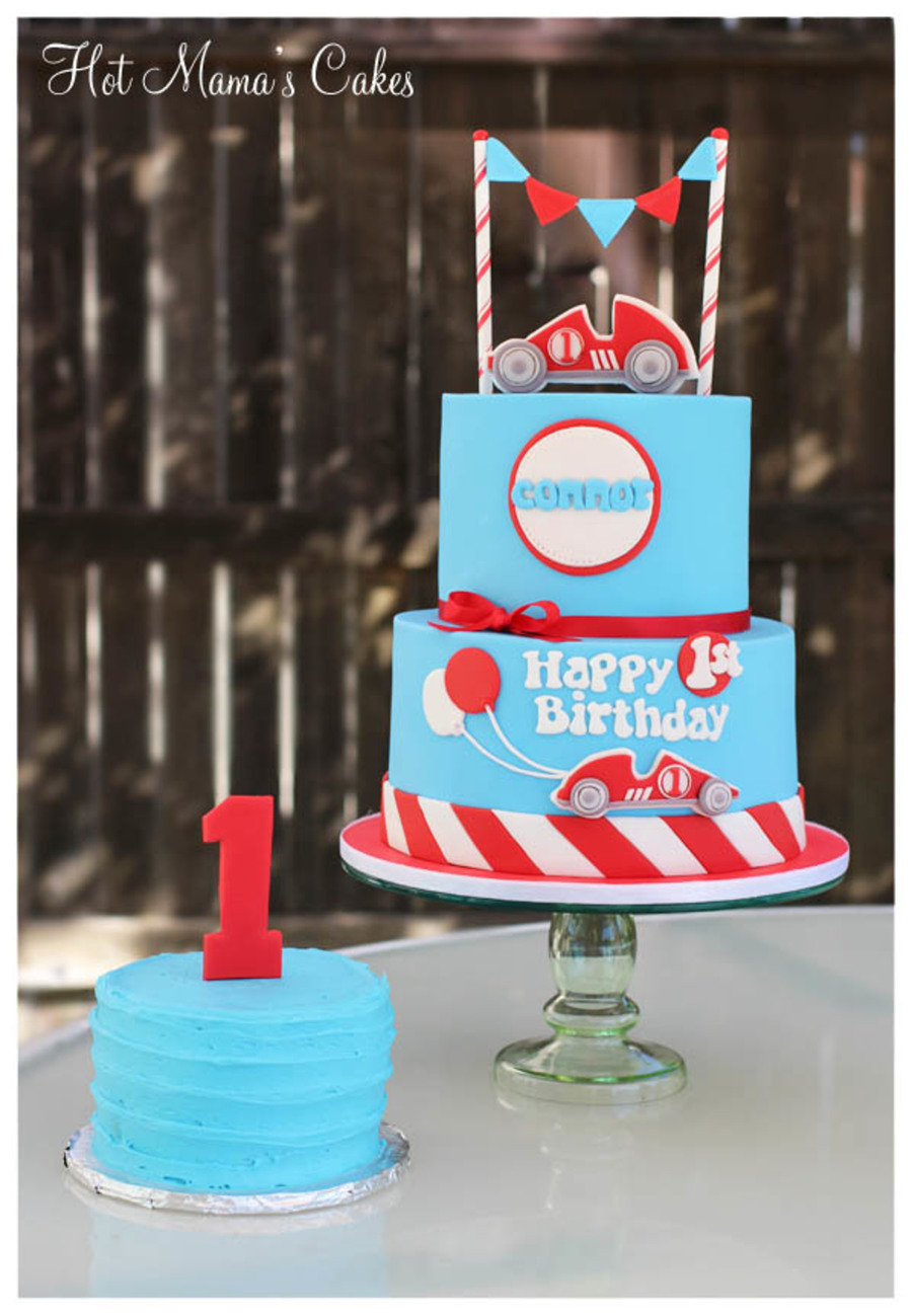 Race Car Themed 1st Birthday Cakecentral Com