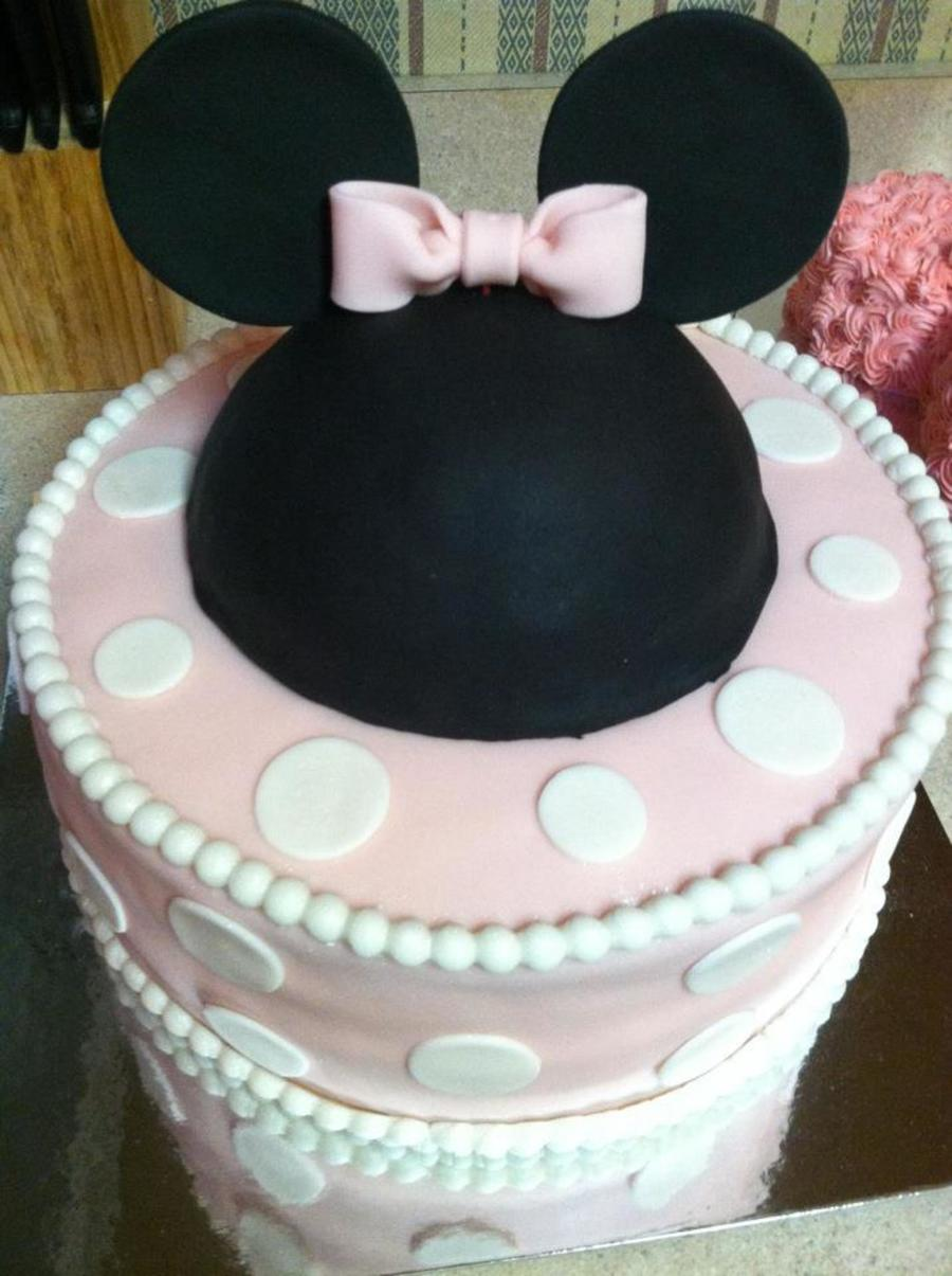 Minnie Mouse 1st Birthday Cake Cakecentral Com
