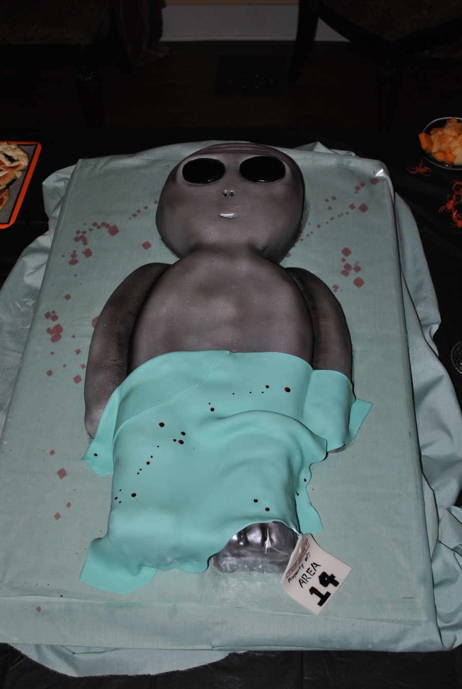 Alien Autopsy Halloween Birthday Party Cakecentral Com
