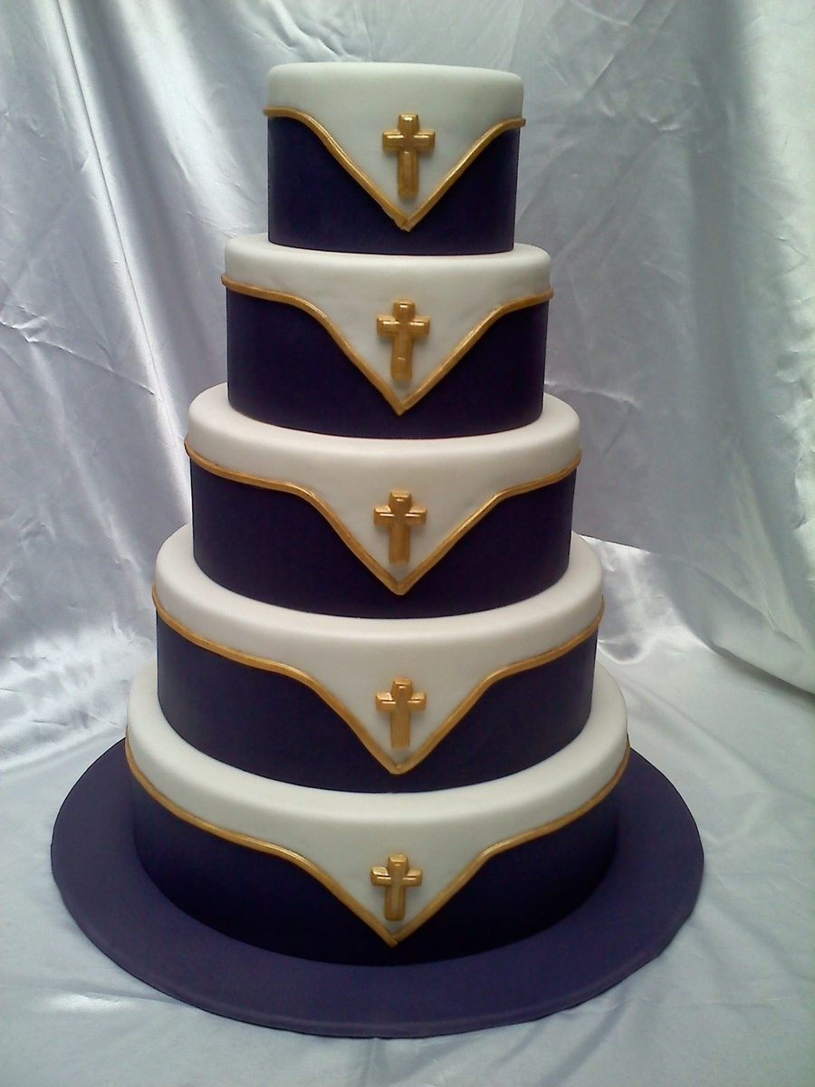 Purple And Gold Wedding Cake Cakecentral Com