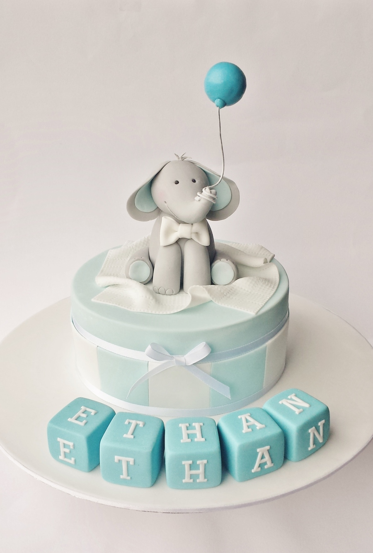 Christening Cake For A Little Boy Cakecentral Com