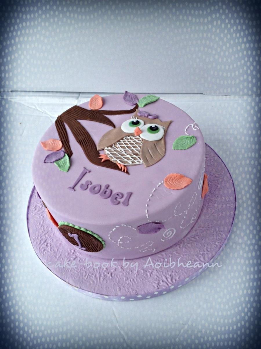 Simple Owl Cake Cakecentral Com