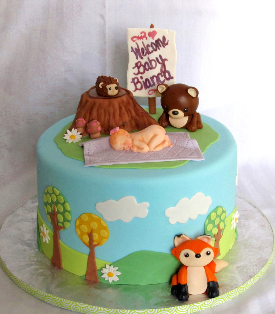 Woodland Critter Baby Shower - CakeCentral.com