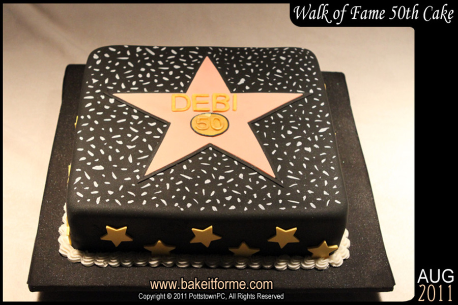 Hollywood Walk Of Fame Fondant Cake Cakecentral Com