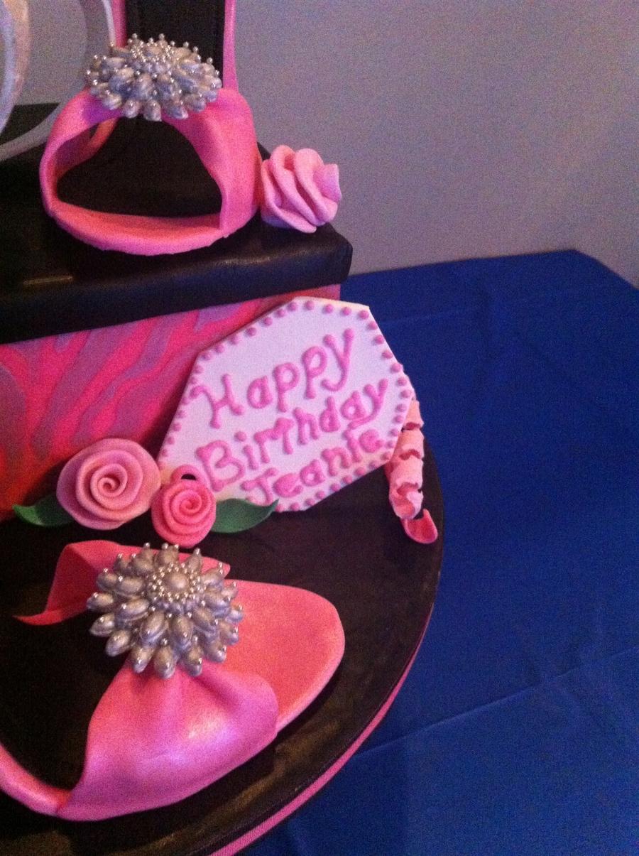 Shoebox Amp High Heels Birthday Cake Cakecentral Com