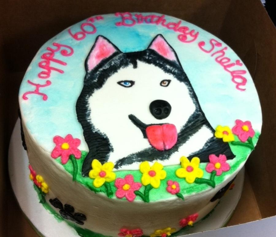 60th Birthday Cake Husky Dog Cakecentral Com