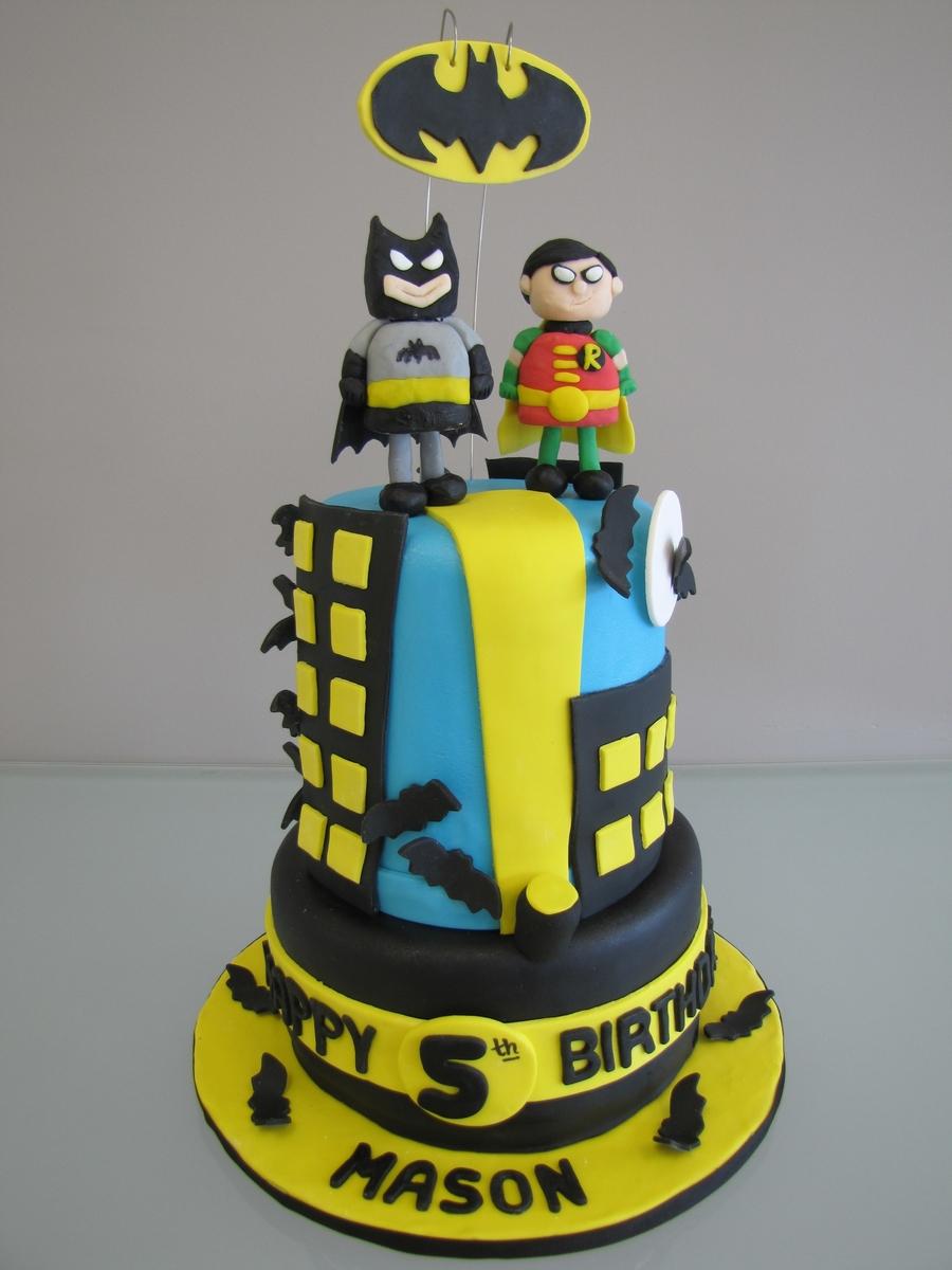 Batman Amp Robin Birthday Cake Cakecentral Com