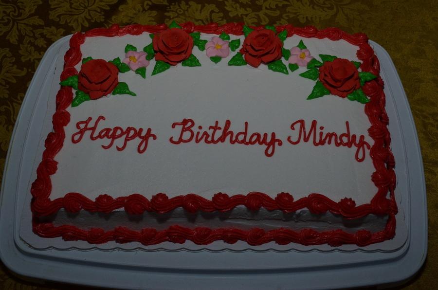 Happy Birthday Mindy Cakecentral Com