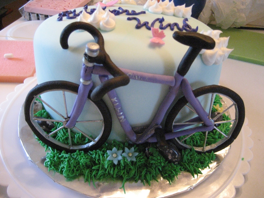 Bicycle Birthday Cake Cakecentral Com