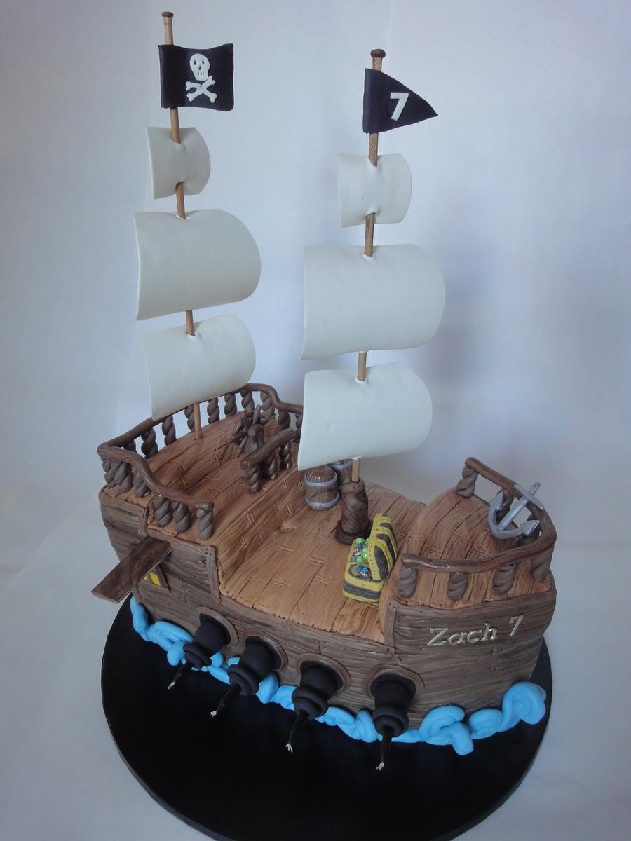 Pirate Ship Cake Cakecentral Com