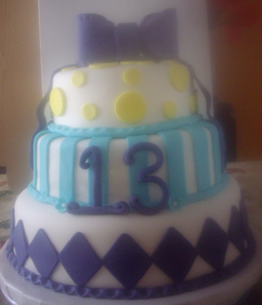 Birthday Cake For 13 Year Old Girl Cakecentral Com