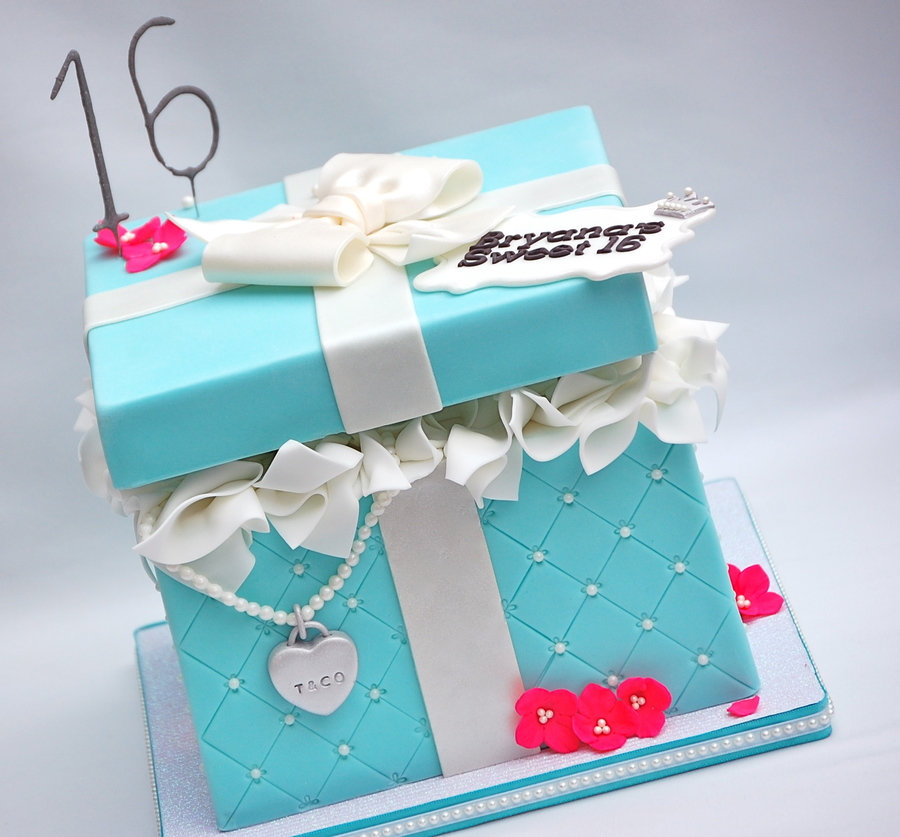 A Tiffany Box For Bryanas Sweet 16 8 Square With Floating