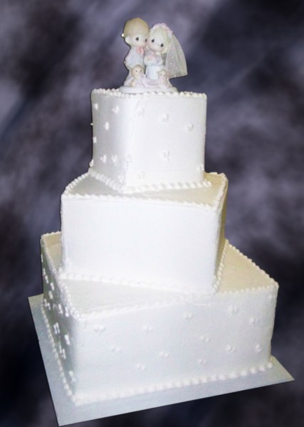 Square Wedding Cakes   CakeCentral com Square Wedding Cakes on Cake Central
