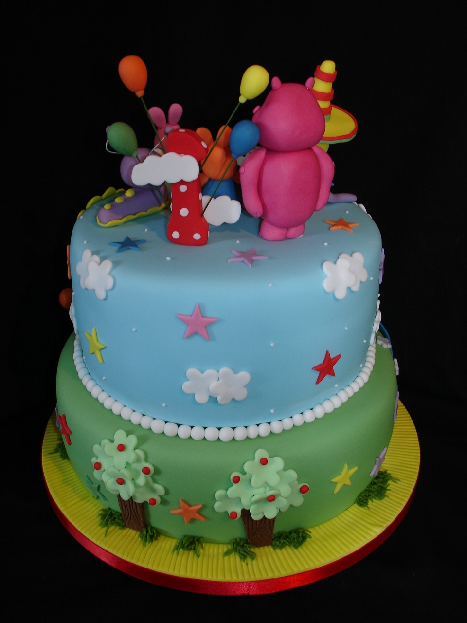 1st Bday Baby Tv Theme Fondant Cake Cakecentral Com