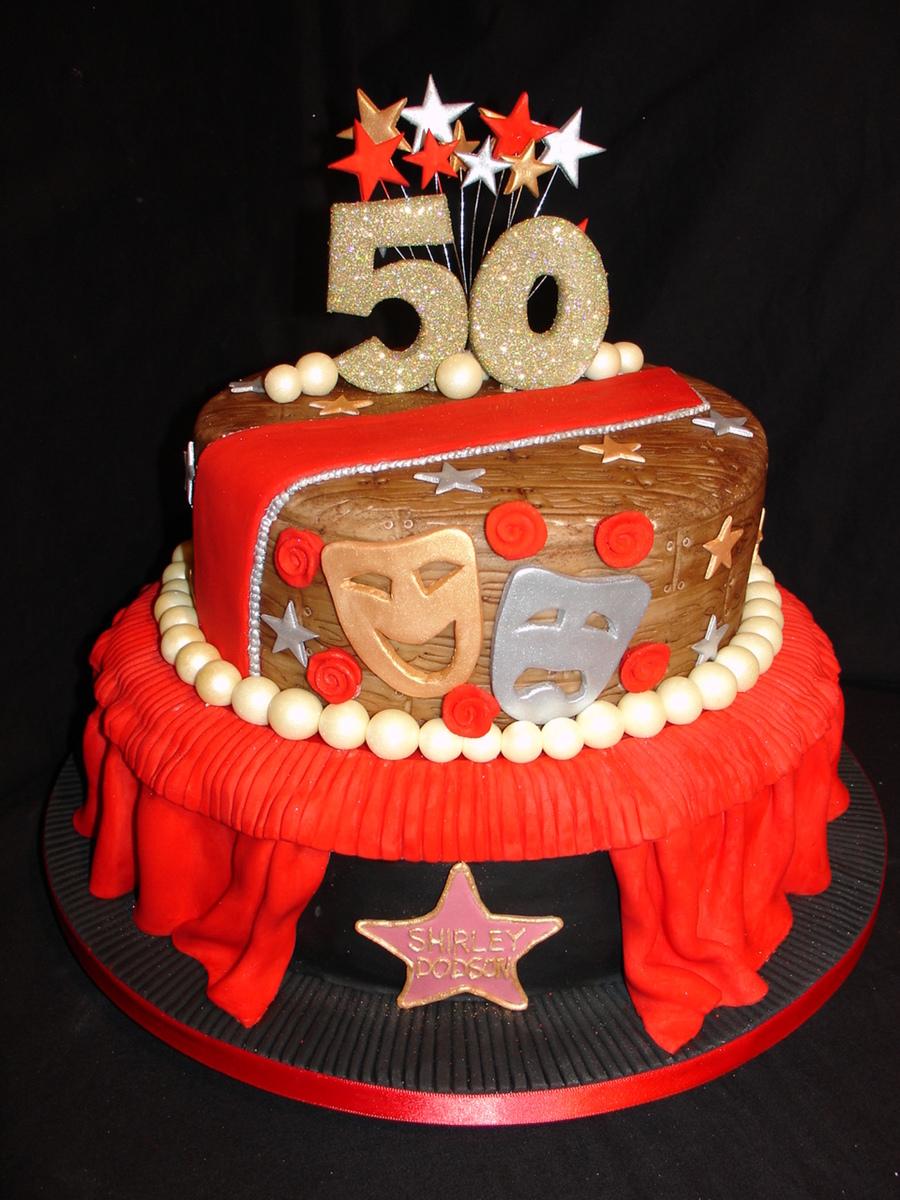 50th Drama Theatre Fondant Cake Cakecentral Com