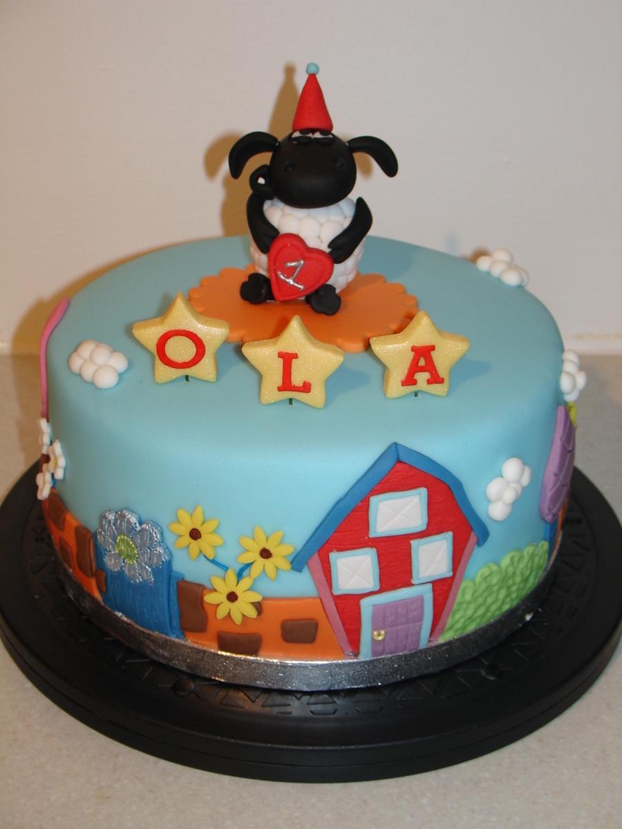 Timmy Time 1st Birthday Fondant Cake Cakecentral Com