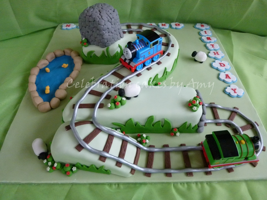 Number 2 Thomas The Tank Engine Cake Cakecentral Com