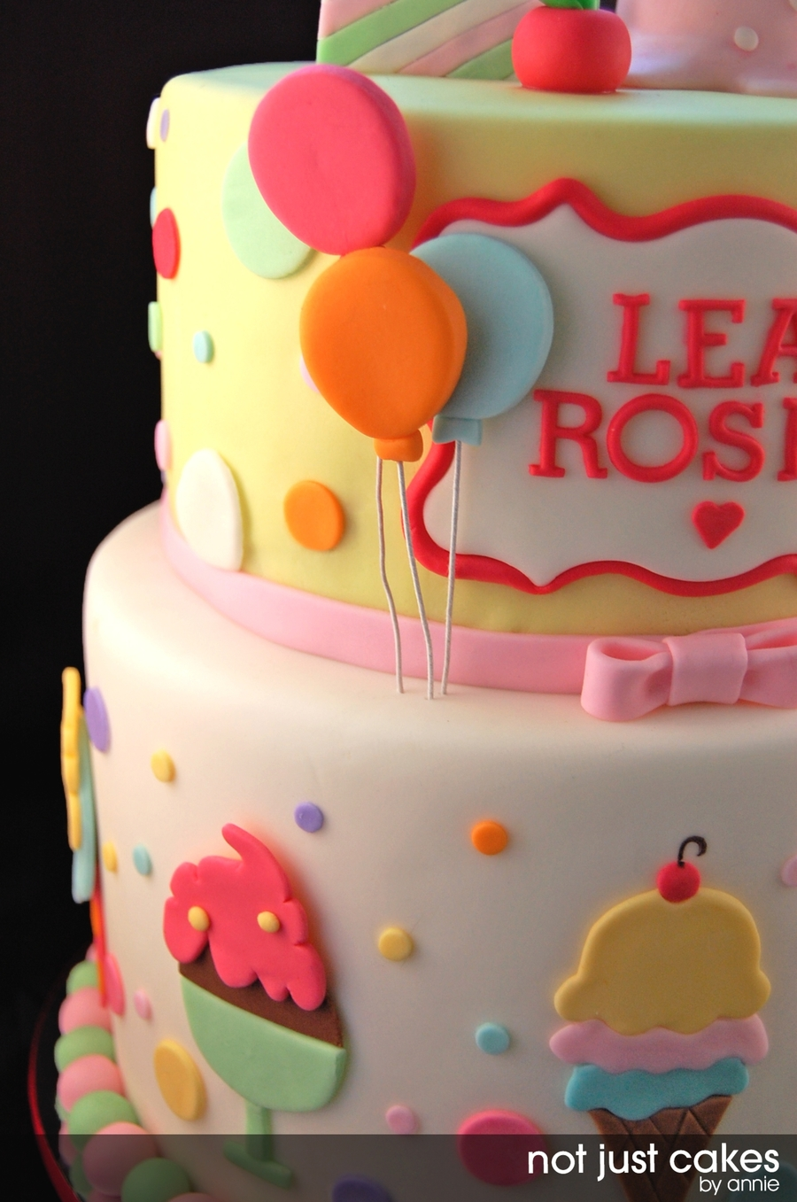Ice Cream And Balloon Cake Cakecentral Com