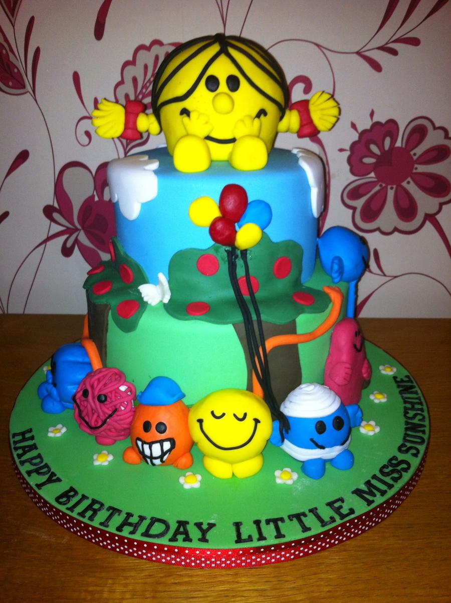 Little Miss Sunshine Amp Mr Men Cake Cakecentral Com
