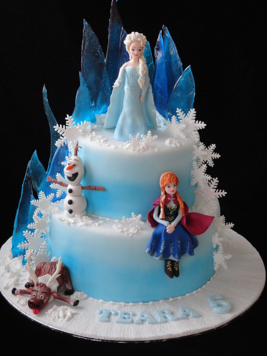 Frozen Theme Cake Cakecentral Com