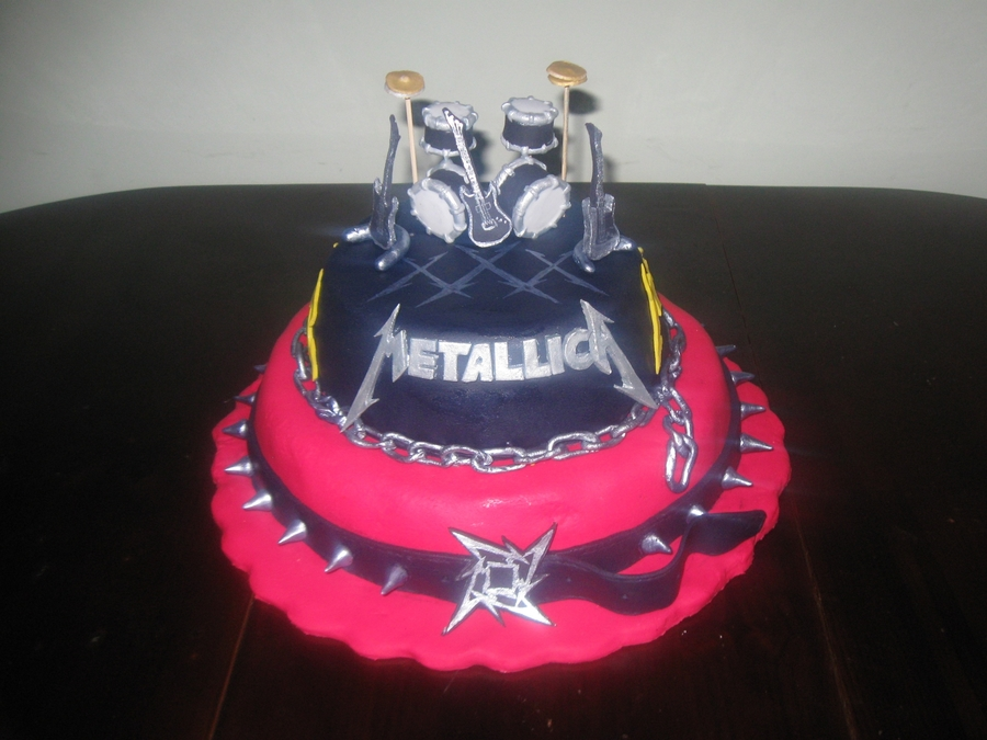 Metallica Cake Cakecentral Com