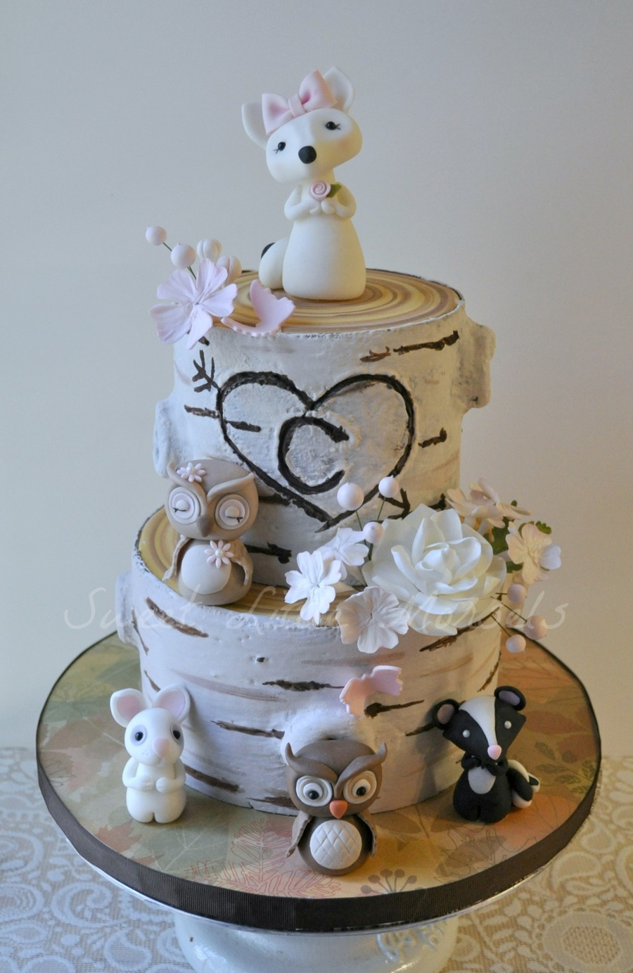 This Cake Was Done For A Friend The Woodland Animals Are ...