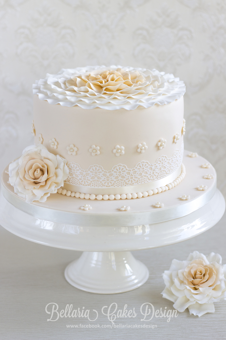A 20Th Wedding Anniversary Cake   CakeCentral com I made this cake for a 20th wedding anniversary cake for my friends  They  are such a lovely couple  This cake is filled with champagne cream and  raspberry