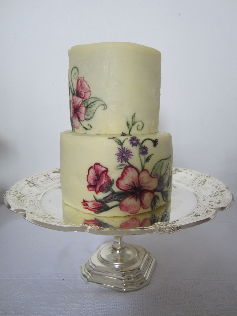 Painted Ganache Cake Cakecentral Com